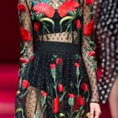 Роскошное платье  в стиле Dolce