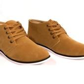 Код: gr214 Мужские полуботинки коричневого цвета!