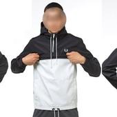 Мужская Куртка Анорак FP - черно белый