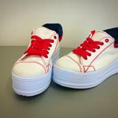 """Кеды на платформе """"Converse"""" IK-800 (белый)"""