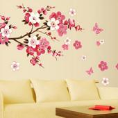 Веточка Сакуры - наклейки на стену