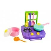 Набор игрушечной посуды столовый Ромашка с плитой 7 элементов 39150