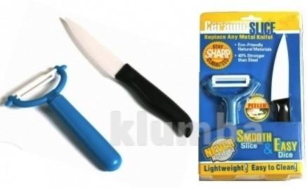 Керамический нож и овощечистка ceramic slice ceram фото №1