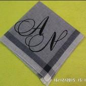 Платочки с инициалами машинная вышивка