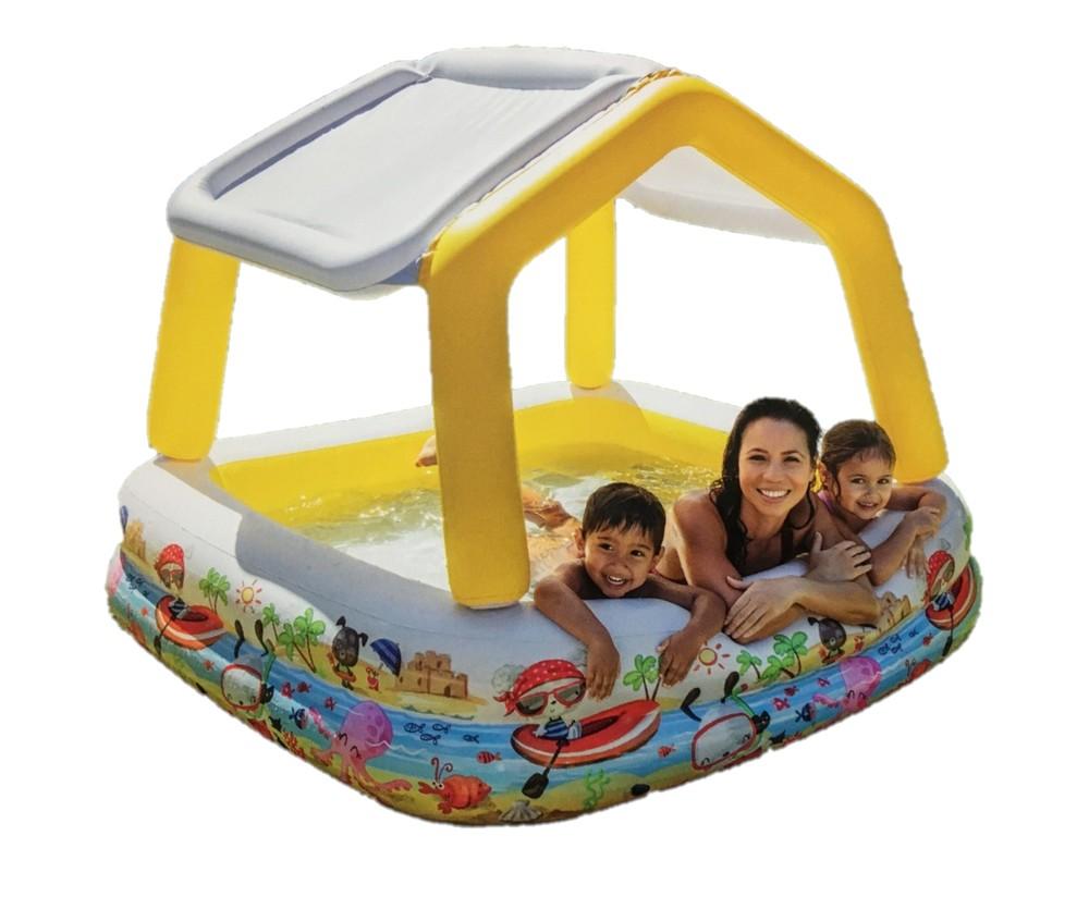Детский надувной бассейн 57470 intex аквариум съёмная крыша фото №1