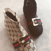 Стильные ботиночки полусапожки Gucci.Новинка 2017