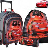 Школьный ранец— рюкзак *Тачки* на роликовых колесиках+пенал+ сумка