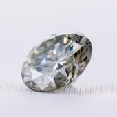 Бриллиант - муассанит 0.85 carat. VVS1 Сертификат