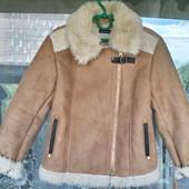 Стильная демисезонная дубленка - куртка на 10 лет