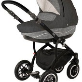 Универсальная коляска 2в1 Adamex York Eco Len 603K, шоколадный с серым