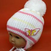 в наличии новая демисезонная детская шапка Мотылек