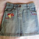 Фирменная джинсовая юбка на 5-6 лет