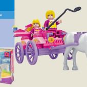 Конструктор Ausini 24408 Повозка с лошадкой