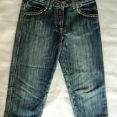 Фирменные капри джинсовые на 8-10 лет