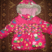 Фирменная Next куртка на 9-12 месяцев с Пеппой