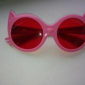 детские модные очки- китти девочке 3-5 лет