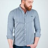 Недорогие мужские рубашки длинным рукавом , №94G033