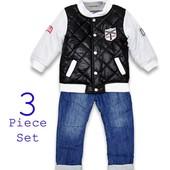 Комплект из 3 предметов  куртка, брючки и футболка с длинным рукавом . ТМ Little Gent  Англия