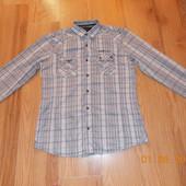 Красивая рубашка Next для мальчика 14-16 лет, размер М