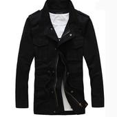 Мужская дизайнерская куртка на флисе 8414