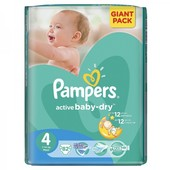 Pampers Active Baby Dry 4  7 14 кг    82 шт
