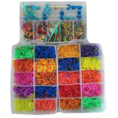 Огромный набор Резиночек для плетения браслетов Rainbow Loom bands 10000 шт!