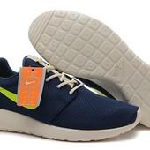 Кроссовки Nike Roshe Run Blue, р. 41,42,43,44,45