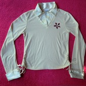 Фирменная блузка реглан 10-12 размер