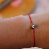 Красная нить, оберег с кристалом. Redline