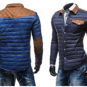 Мужская стеганная демисезонная куртка в двух цветах,стильная куртка