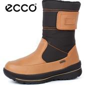 Сапоги кожаные Ecco Gore-Tex тerra вrown женские зимние сапоги Экко