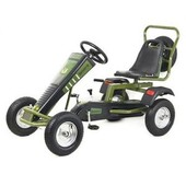 Карт M 1694 надувные колеса, цепная передача, ручной тормоз, от 12 лет, до 120 кг, черно-зеленый