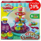 Плей До набор пластилина Башня из кексов Play Doh A5144 hasbro плей-дох
