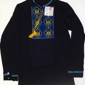 Вышиванка мальчик подросток рост 146-152 черная