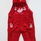 Вельветовый комбинезон для девочек на флисе 2 цвета 6-30 месяцев.3305