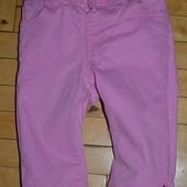1 - 2 года рост 92 см Фирменные Шорты бриджи джинсовые девочке в горошек