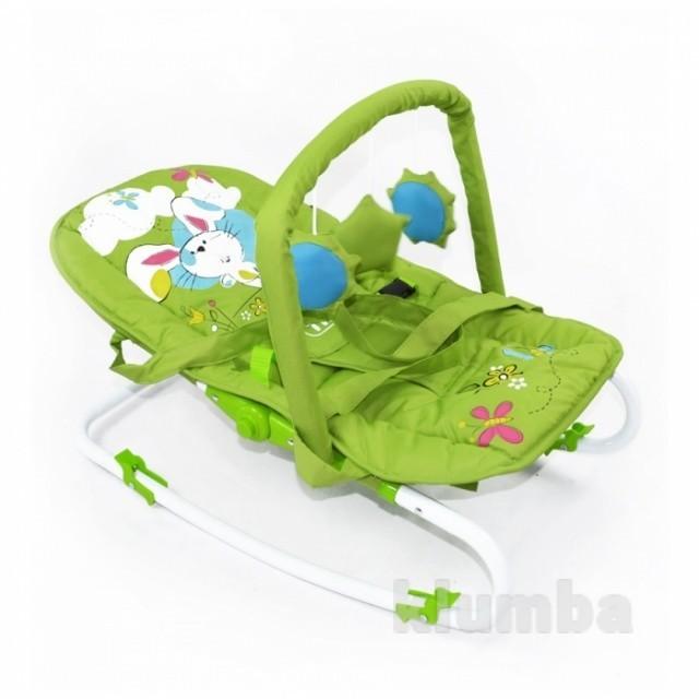 Шезлонг-качалка Baby Tilly bt-bb-0001 Green, зеленый фото №1