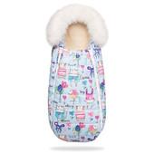 Детский зимний конверт кокон на овчине для новорожденных (цвета в ассортименте)