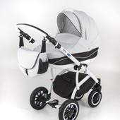 Универсальная коляска 2 в 1 Adamex York 596G, пелельная клетка/темно-серый