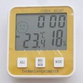 Термометр гигрометр DC-107, DC-108 с часами и будильником