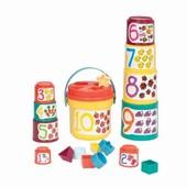 Игровой набор -сортер -Пирамидка 2 в одном (19 предметов)в нетоварной упаковке