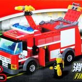 Конструктор 8054 KAZI,пожарная машина