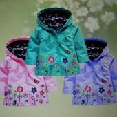 Плащик-курточка на малыша, 3-5 лет, 4 цвета, новый
