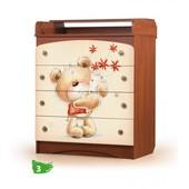 Вальтер Мишка с букетом пеленальный комод