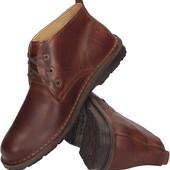Коричневые ботинки на мужчину из натуральной кожы ,Польша