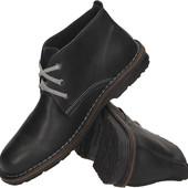 Черные ботинки на мужчину из натуральной кожы ,Польша
