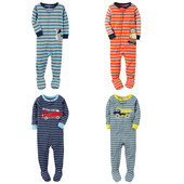 Хб пижамки, слипы Carters для мальчиков на рост 72-86 см