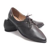 Элегантные классические туфли-полуботинки коричневого цвета