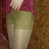 шорты Bershka р.S ткань с эффектом натуральный замш