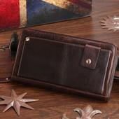 Клатч кошелек портмоне мужской из натуральной кожи
